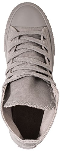Elara Unisex Sneaker | Sportschuhe für Herren Damen | High Top Turnschuh Textil Schuhe 36-47 All Grau