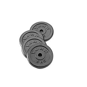 York Fitness Four Standard Cast Iron Disc Set