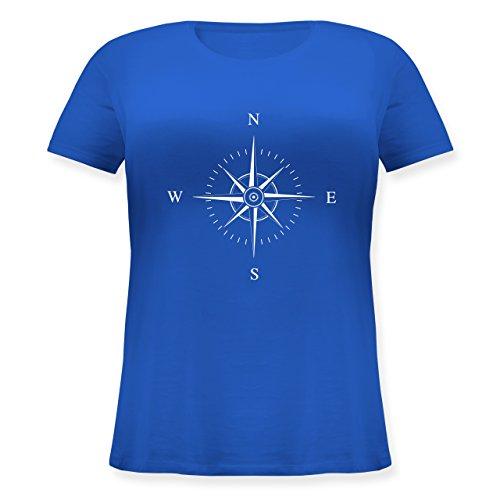 Shirtracer Statement Shirts - Kompassrose - Lockeres Damen-Shirt in Großen Größen mit Rundhalsausschnitt Blau