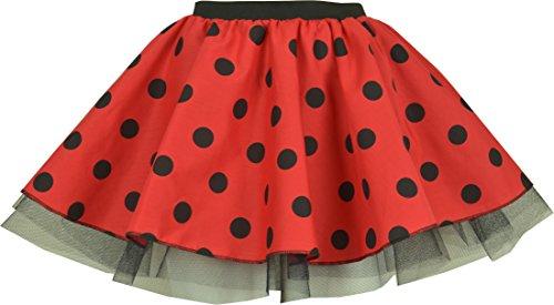 Marienkäfer-Rock für Damen, 30,5cm Länge Gr. 36, Ladybird (With - Niedliche Ladies Fancy Dress Kostüm