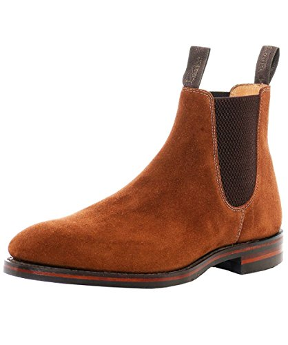 loake-hommes-bottes-de-daim-chatsworth-chelsea-uk-8-brown-sue-dainite