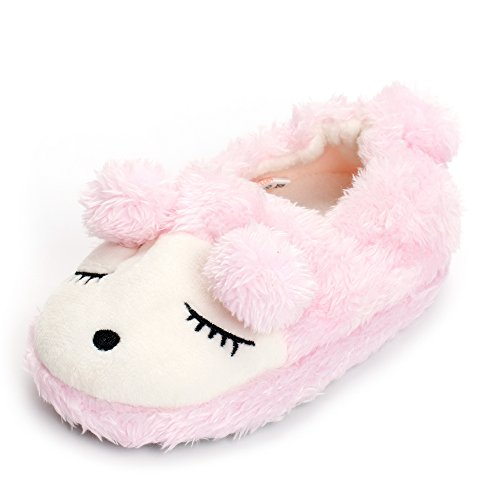 ESTAMICO Toddler Girls Novelty Sheep Slippers Winter Home Shoes Pink 5-6 UK