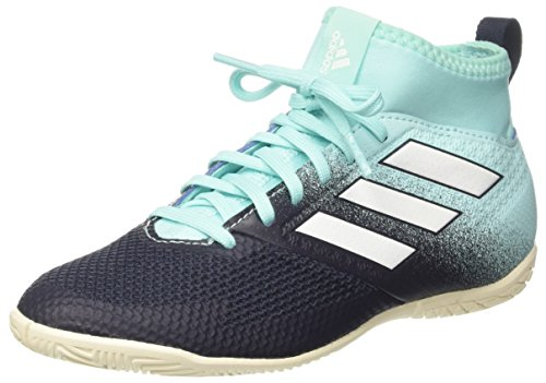 adidas Unisex-Kinder Ace Tango 17.3 in Futsalschuhe, Mehrfarbig (Energy Aqua/Footwear White/Legend Ink), 35 EU