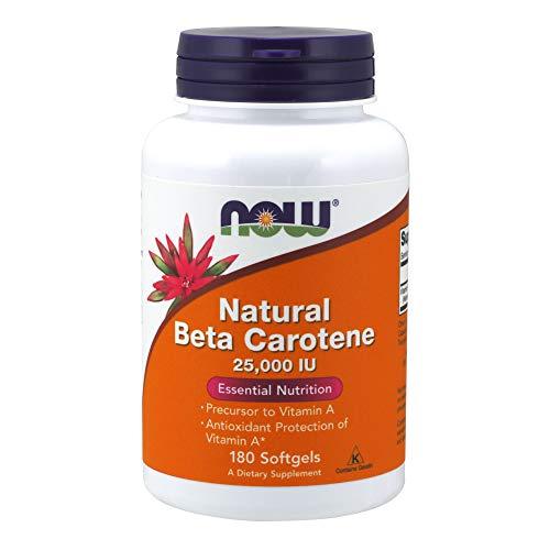 Natural Beta Carotene, 25.000 UI, 180 Capsules - Now Foods
