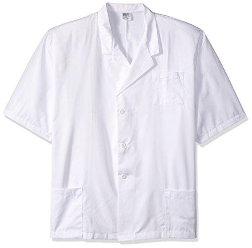 worklon 1063X L Polyester/Baumwolle Herren Short Sleeve Lab Coat mit Knopf Verschluss vorne, 3x große Scrubs-jacke