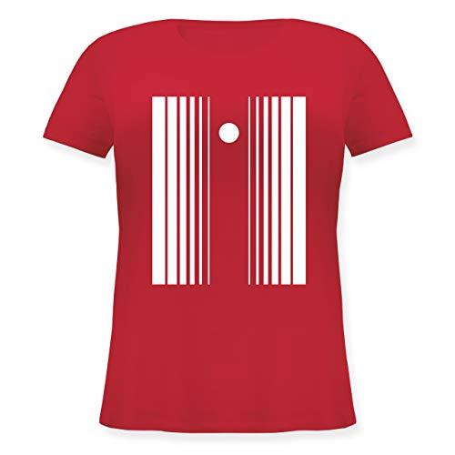 Karneval & Fasching - Doppler-Effekt - XL (50/52) - Rot - JHK601 - Lockeres Damen-Shirt in großen Größen mit ()