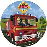 Disco pastel Sam el bombero 20 cm