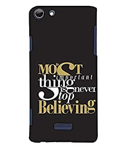 Fuson Designer Back Case Cover for Micromax Canvas Selfie 3 Q348 (Most important thing theme)