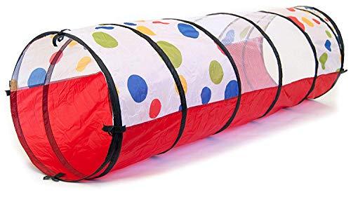 Fashion barra Kinder Spielzeug Spielen Tunnel Zelt 6ft Regenbogen Pop Up Tunnel Tube für Kinder Indoor-und Outdoor-Spiele Spielen