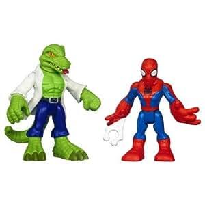 Figurines Spiderman : Marvel Super Hero Adventures : Spider-Man et le Lézard