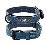 Hundehalsbänder personalisierte benutzerdefinierte weiche und komfortable Leder für kleine mittelgroße Hunde Pitbull Bulldog Beagle
