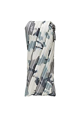 ZIPIT Camo Pencil Case, Grey Camouflage by ZIPIT
