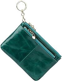 GRAN VENTA- Yaluxe Mujer Gran capacidad Cera de lujo piel genuina Monedero con bolsillo de la cremallera (caja de regalo)