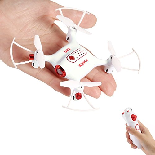 Syma X20-S Mini Drones for Children 2.4GHz 4CH 6-Axis Quadcopters RC with Altitude Retention, Headless Mode, 360 ° Rotation and LED Light