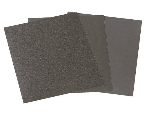 Wolfcraft 3119000 - 16 pliegos papel de lija seco/ al agua, grano 280,400,600,1000; 230 x 280 mm