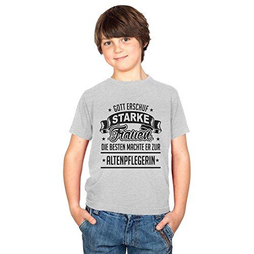 TEXLAB - Altenpflegerin - Kinder T-Shirt, Größe L, grau meliert