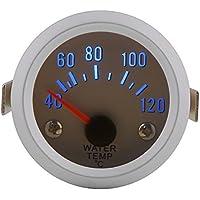 """Qiilu 52mm 2 \""""Calibrador universal de la temperatura del agua para el motor del coche Digital Blue Temperatura del agua LED Calibrador de la temperatura 40-120 ℃ Gama"""