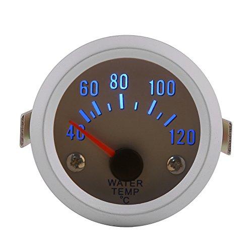 Qiilu 52 mm 5,1 cm Auto Wassertemperaturanzeiger Messgerät mit Digital Blau LED Reichweite