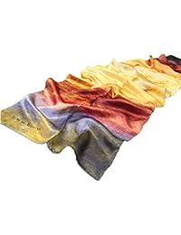Prettystern P148 - LUXUS 170cm- fait main - reproduction peinture - foulard en soie - j.m.William Turner - The Fighting Temeraire