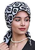 The Headscarves Women's Cotton Printed Short Tails Chemo Cap