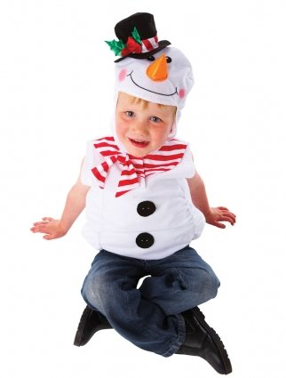 Christys costume carnevale frosty pupazzo di neve olaf frozen disney, bambino, 4/7 anni