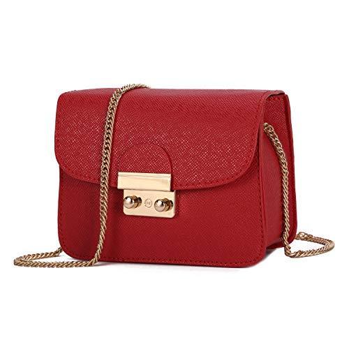 Borsa a tracolla piccola per borsa a tracolla donna borsa a tracolla vintage in pelle pu-rosso