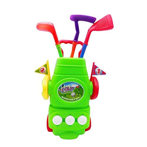 Crewell Kinder Golfschläger-Set mit Golfschlägern, Sport-Spielzeug, Physikalische geistige Entwicklung für Jungen und Mädchen