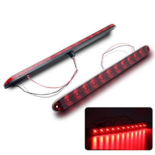 MASO Lot de Feux Stop arrière LED Noirs pour Pare-Chocs et Feux de Brouillard Rouge pour VW Transporter T5 05-12