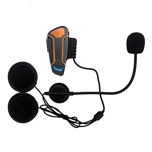 CARACHOME Motorradhelm Kommunikation Headset Bluetooth Intercom Mit Mikrofon, FM Radio, GPS, Musik, Motorrad Helm Bluetooth Kopfhörer