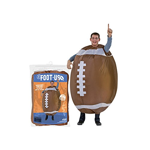 Original Cup Aufblasbare Amerikanischer Fußball Kostüm Neu - Premium Quality - Kostüm für Erwachsene Größe Polyester Beständig - Mit Inflation System