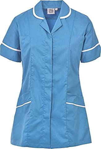 Womens Healthcare Tunic Round Collar Tunics Nurses Uniform Maid Dresses NLT05 SIZE 8 T0 26 (10,