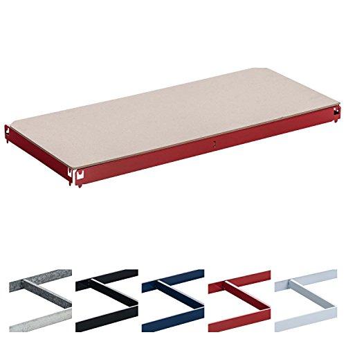 CLP Einlegeboden, Ersatzteil Regal-Boden für Schwerlastregal 90 x 40 cm, 175 kg Tragkraft Rot