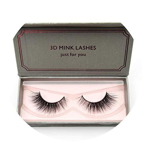 26002dd6d5e Lovely-Shop Natural Long Mink Eyelashes 1 pair 3D False Eyelashes Full  Volume Mink Lashes