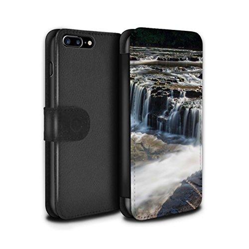 Stuff4 Coque/Etui/Housse Cuir PU Case/Cover pour Apple iPhone 7 Plus / Colline Design / Cascades Collection Bas-Fonds