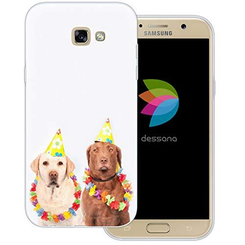 dessana Fasching Party transparente Schutzhülle Handy Case Cover Tasche für Samsung Galaxy A7 (2017) Kostüm ()