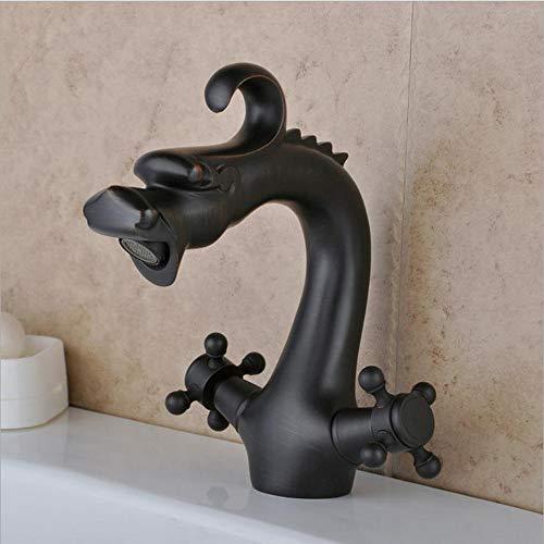Makeyong Antike Messing Keramik Mischbatterie Wasserhahn Einzigartiges Design Öl Messing Bronze Küche Dual Griffe Becken Waschbecken Mischer -