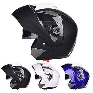 Lamptti Motorrad Vollvisierhelm – Vollgesichtsrennen Motorradhelm mit Sonnenblende für Erwachsene Männer – ECE-Zulassung mit Drop Down-Sonnenblende