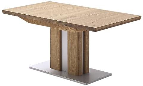 Robas Lund Tisch Esstisch Massivholztisch Bergamo ausziehbar Eiche 160(210)x77x90 cm