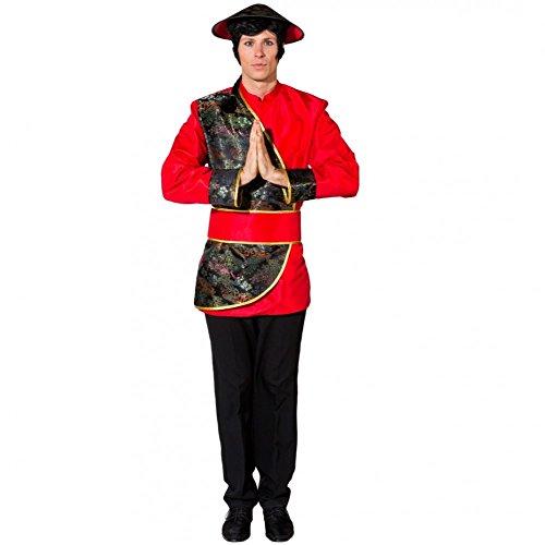Chinese Kostüm - Kostüm Chinese Mr. Wong Gr.50/52 Tunika Gürtel Fasching Asiate Andere Länder