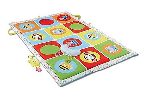 Haehne Bébés Grand Activité Tapis de Jeu, Jouet éducatif Tapis de Jeux pour Enfants Jeu D'apprentissage Doux Rembourré, 145 X 90cm