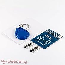 azdelivery RFID RC522Juego con Reader, chip y tarjeta para Arduino, Raspberry Pi y Co. Incluye Quick Start Guide.