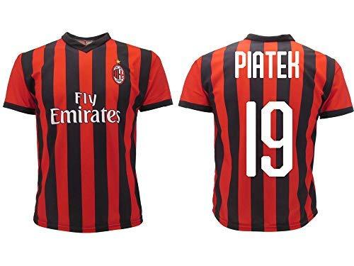 Camiseta Jersey Futbol Milan Piatek 19 Replica Oficial