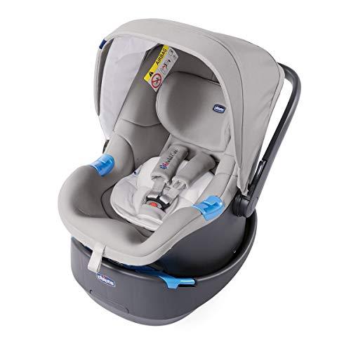 Chicco oasys up bebècare seggiolino auto con dispositivo anti-abbandono integrato, 0-6 kg, gruppo 0+, titanium