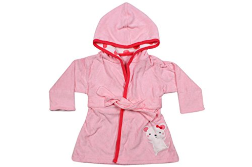 Ole Baby Lovely Hooded Soft Organic Cotton and Fluffy Infant Bathrobe and Towel (0-12 Months)