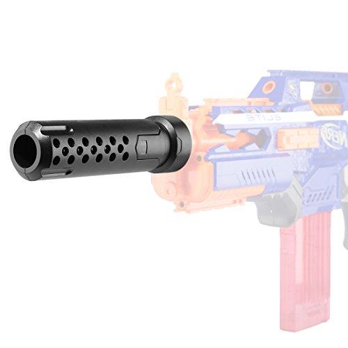 Riva776Yale Schalldämpfer,Upgrade Barrel Verlängerung Schalldämpfer für Nerf Stryfe/Rapidstrike/Retaliator/Nerf-Modulator und Nerf N-Strike Elite Infinus - Matt-schwarz A/v-modulator