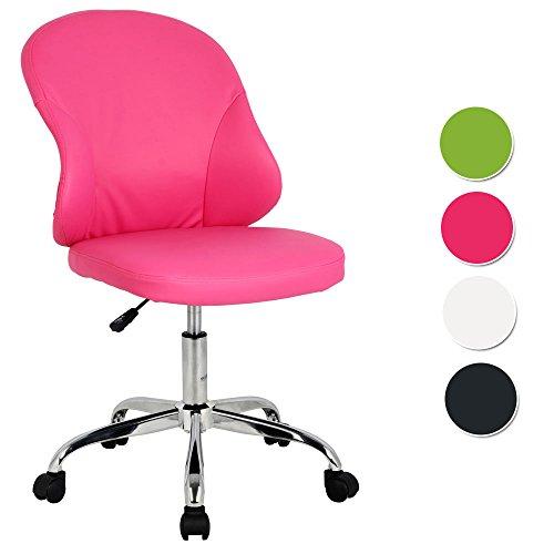 SixBros. Rollhocker Arbeitshocker Hocker Bürostuhl Pink - H-24211987