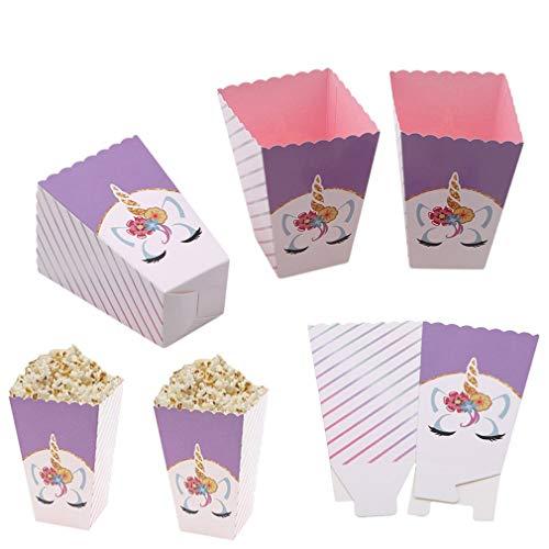 DGDJ Popcorn-Box, lila, 12 Stück