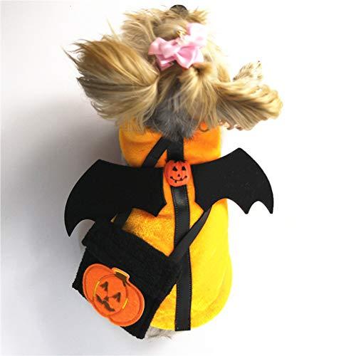 Müllsack Kostüm - Hundekostüm Haustier Mantel Halloween Hund Kleidung Funny Pet Clothing Party Cosplay,M