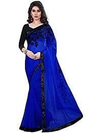 Tread India Chiffon Saree (Tread-Z_Blue_Blue)