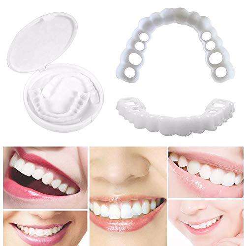 Teeth Whitening Effective Cosmetic Snap on Instant Perfect Smile Comfort  Fit Flex Teeth Veneers Painless No Sensitivity Easy to Use Make White Tooth